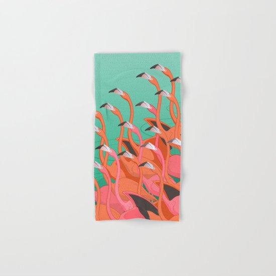 Fresco of the flamingoes. Hand & Bath Towel