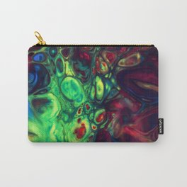 Abstract with green dominant Carry-All Pouch