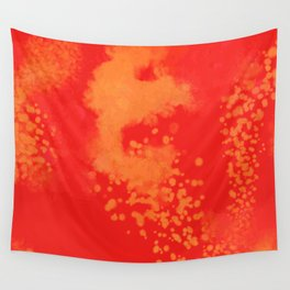 Cherry Gold Explosion Wall Tapestry
