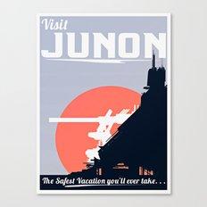 Final Fantasy VII - Visit Junon Propaganda Poster Canvas Print