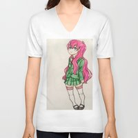 anime V-neck T-shirts featuring anime  by ArtGuts