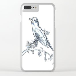 Singing Bird, watercolor Clear iPhone Case