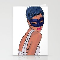 rebel Stationery Cards featuring Rebel by Ela Designs
