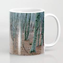 Typical autumnal postcard from the woods, with a scary atmosphere Coffee Mug