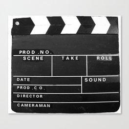 Film Movie Video production Clapper board Canvas Print