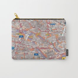 Illustrated map of Berlin-Mitte. Red Carry-All Pouch
