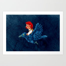 Phantom PI - Pixel Series Cecil Art Print
