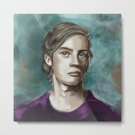 Man in purple Metal Print