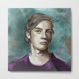 Man in purple Metal Print