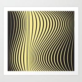 Animal print geometric lover Art Print