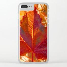maple leaf. Autumn in Zamora. Spain Clear iPhone Case