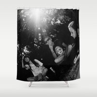 kids Shower Curtains featuring kids by Aisling Rowland