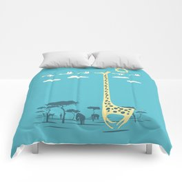 I'm like a bird (blue) Comforters