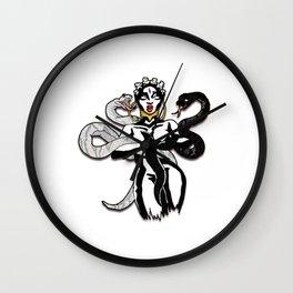 Snake Skin and Bantu Knots Wall Clock