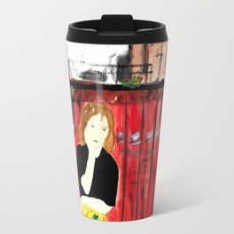 Portrait of my Mother in Rome French Fine Art Painting Travel Mug