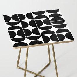 Mid Century Modern Geometric 04 Black Side Table