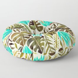 Tropical Wanderlust – Turquoise & Olive Floor Pillow