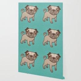 Pug Puppy Cartoon Wallpaper