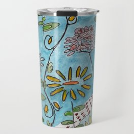 blue toile by cocoblue Travel Mug