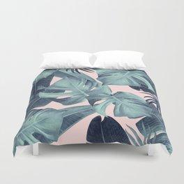 Tropical Summer Jungle Leaves Dream #3 #tropical #decor #art #society6 Duvet Cover