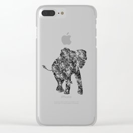 Watercolor African Elephant Clear iPhone Case