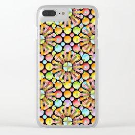 Candy Rainbow Mandala Clear iPhone Case