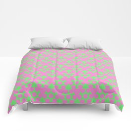 Green and Pink Comforters
