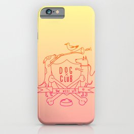 Dog Club iPhone Case