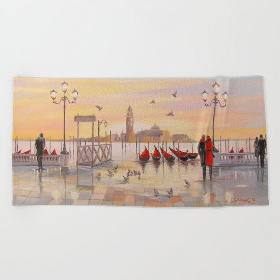Morning in Venice Beach Towel