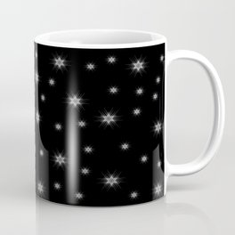 White Nordic star with fine geometric lines pattern Coffee Mug