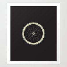 Stay True - Fixie Bike Wheel Art Print