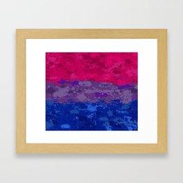 Bisexual Paint Splatter Flag Framed Art Print