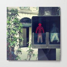 Paris don't walk Metal Print