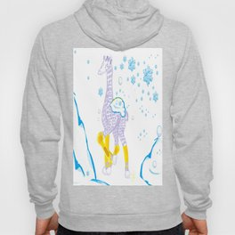 Winter is Coming - Midas is Ready - Christmas Lavender Giraffe Hoody