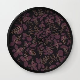 purpur // purple branches, delicate flowers Wall Clock
