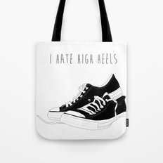 I HATE HIGH HEELS _ SHOES CONVERSE  Tote Bag