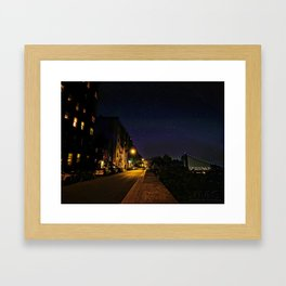 Starry Night in the Heights Framed Art Print