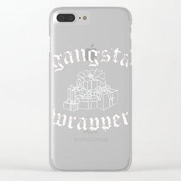 Gangsta Wrapper Clear iPhone Case