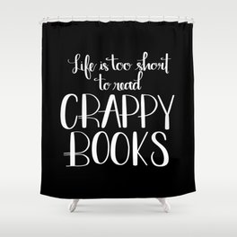 Crappy Books Shower Curtain