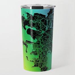 Noumea, New Caledonia, City, Map, Rainbow, Map, Art, Print Travel Mug