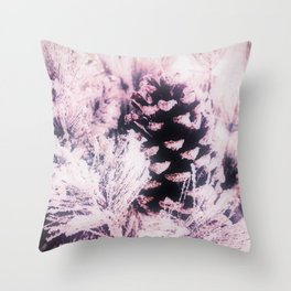 White Pine, Christmas Snowfall Throw Pillow