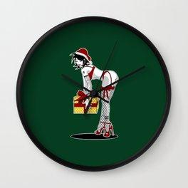 Green Christmas Pinup Wall Clock
