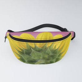 Sunflower on Pink - Botanical Art by Debi Dalio Fanny Pack