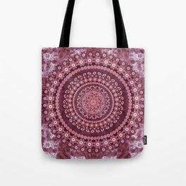 Boho Rosewood Mandala Tote Bag