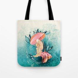 Jellyfish tangling Tote Bag