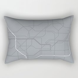 London Underground Jubilee Line Route Tube Map Rectangular Pillow