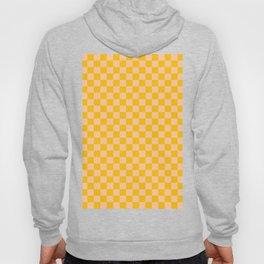 Deep Peach Orange and Amber Orange Checkerboard Hoody