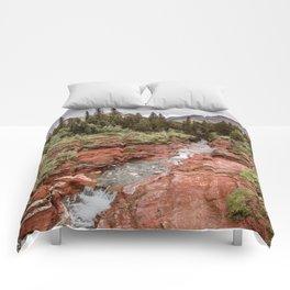 Landcape Red Rock Canyon Photography | Waterton Alberta Canada Comforters