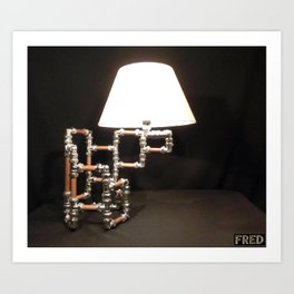 Articulated Desk Lamps - Copper and Chrome Collection - FredPereiraStudios_Page_14 Art Print