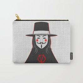 V for vendetta November 5 Minimal Poster Carry-All Pouch